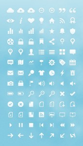 Clean and sharp icon set