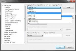 Visual Studio 2010 keyboard settings